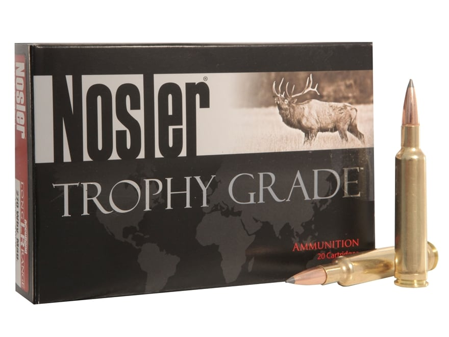 Nosler Trophy Grade Ammunition 270 Weatherby Magnum 150 Grain AccuBond Long Range Box o...