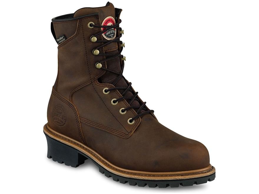 "Irish Setter Mesabi 8"" Waterproof Work Boots Leather Brown Men's"