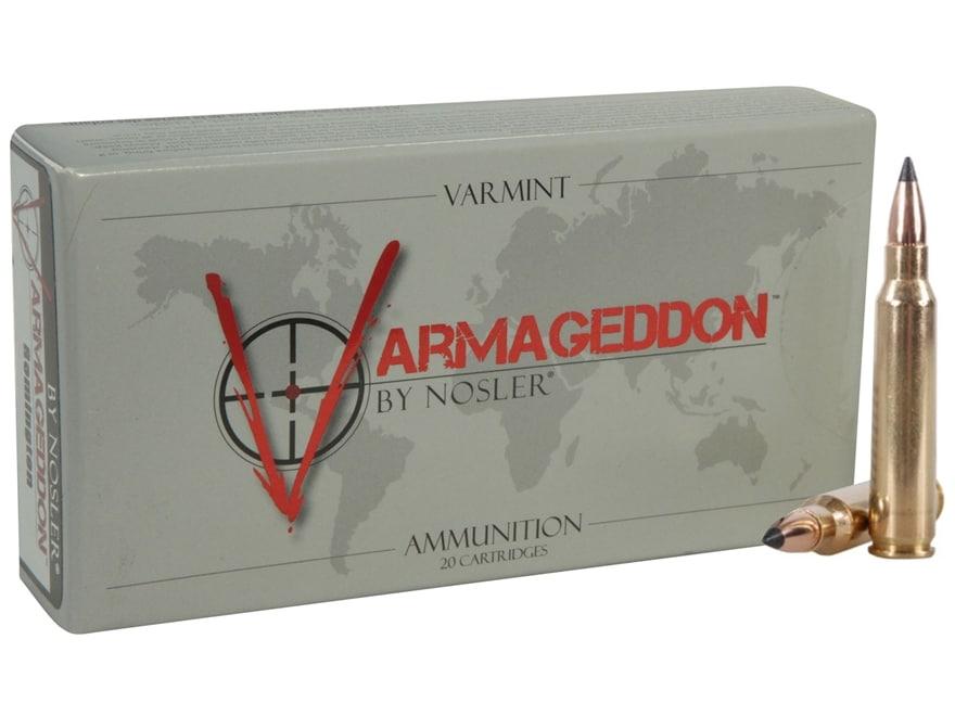 Nosler Varmageddon Ammunition 223 Remington 53 Grain Flat Base Tipped Flat Base Box of 20