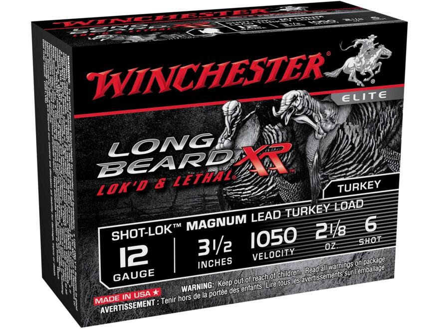 """Winchester Long Beard XR Turkey Ammunition 12 Gauge 3-1/2"""" 2-1/8 oz #6 Copper Plated Shot"""