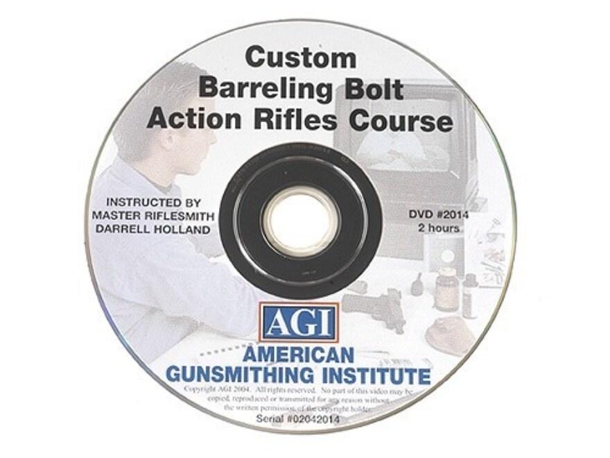 """American Gunsmithing Institute (AGI) Video """"Custom Barreling Bolt Action Rifles"""" DVD"""