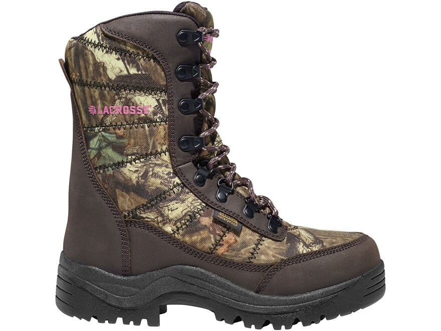 """LaCrosse Silencer 8"""" Waterproof 800 Gram Insulated Hunting Boots Leather/Nylon Mossy Oa..."""