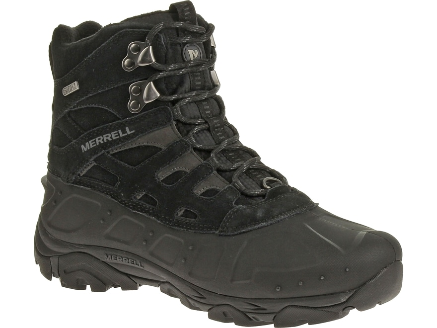 """Merrell Moab Polar 6"""" Waterproof 400 Gram Insulated Hiking Boots Leather/Synthetic Blac..."""