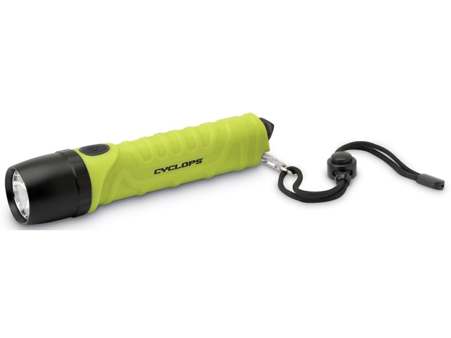 Cyclops TF-700 Lumen LED Flashlight with Emergency Glass Breaker with 4 AA Batteries AB...