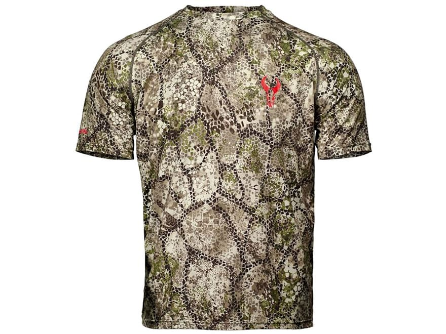 Badlands Men's Algus Crew Base Layer Shirt Short Sleeve Polyester Approach Camo