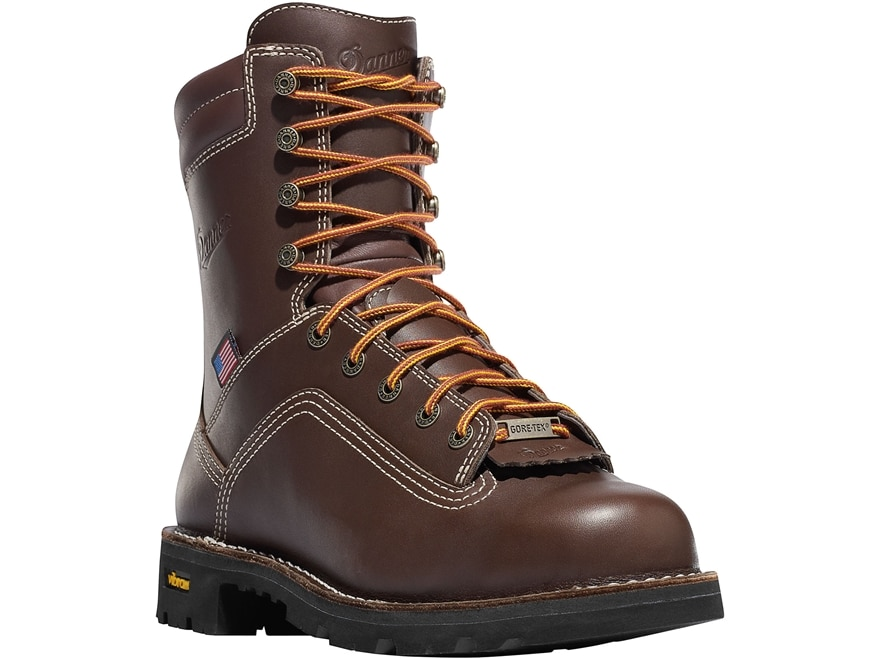 "Danner Quarry USA 8"" Waterproof GORE-TEX Work Boots Leather Men's"