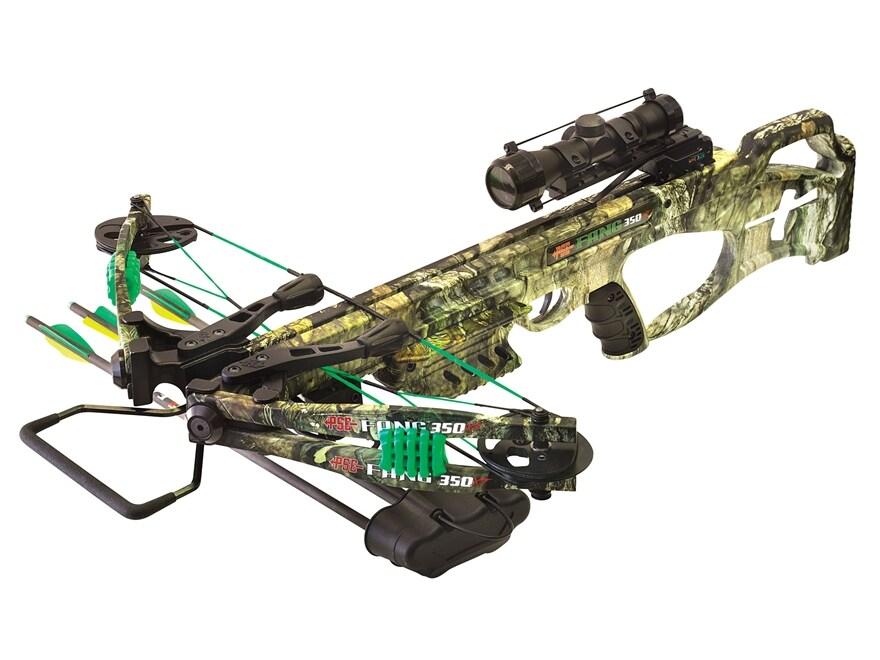 PSE Fang 350 XT Crossbow Package with 4x32 Multi-Reticle Scope Mossy Oak Break-Up Count...
