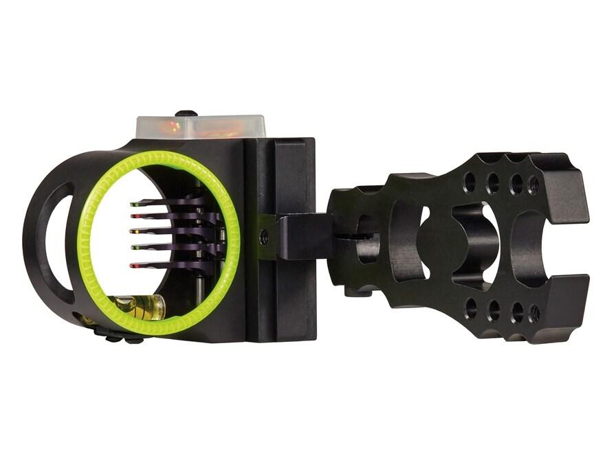 "Black Gold Back Draft 5-Pin Bow Sight .019"" Diameter Pins Right Hand Black"