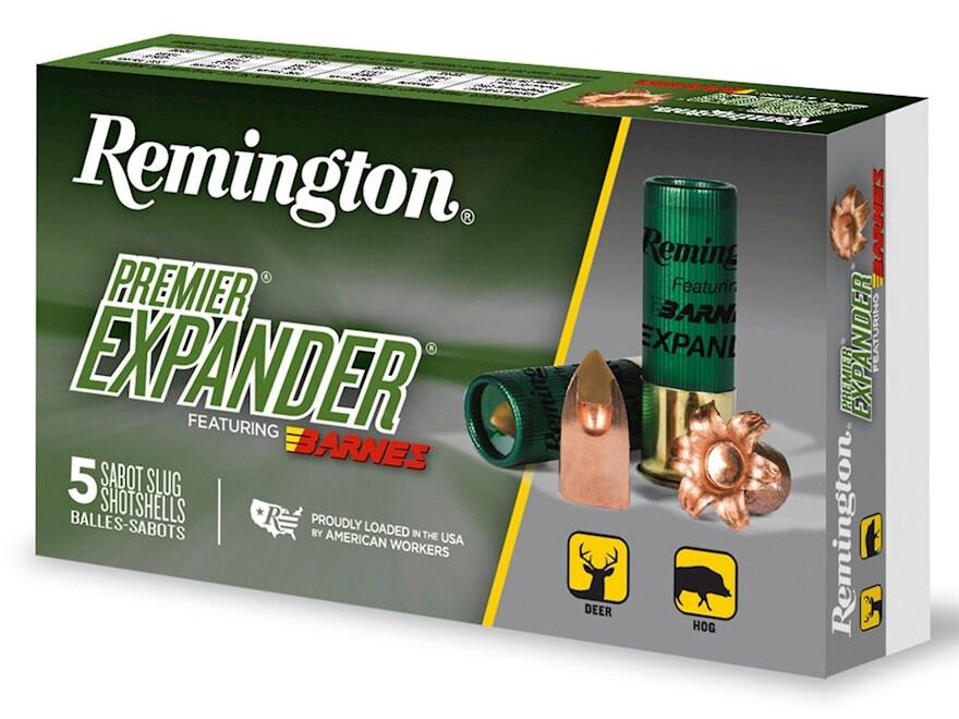 "Remington Premier Expander Slug Ammunition 12 Gauge 3"" 438 Grain Barnes Polymer Tipped ..."