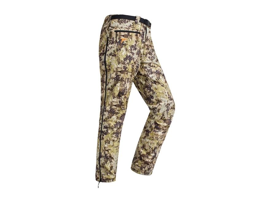 Plythal Men's Monsoon 2.0 Waterproof Rain Pants Polyester Digital Marsh Camo Medium