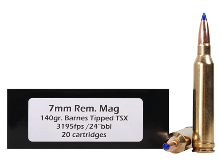 DoubleTap Ammunition 7mm Remington Magnum 140 Grain Barnes TTSX Polymer Tipped Spitzer ...
