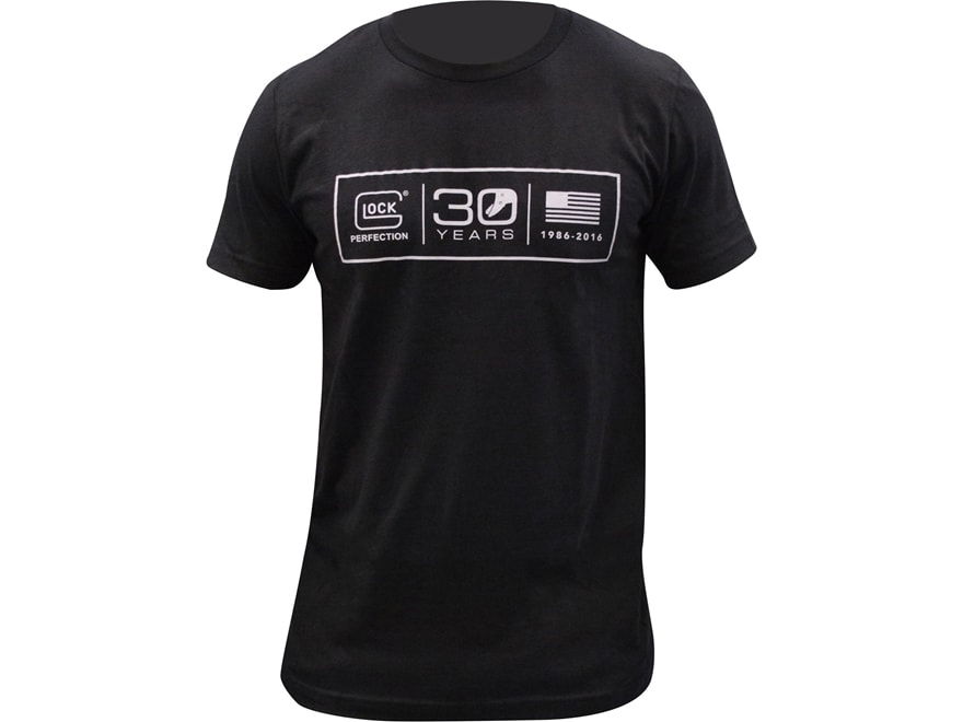 Glock mens 30th anniversary logo t shirt short sleeve mpn: aa11038