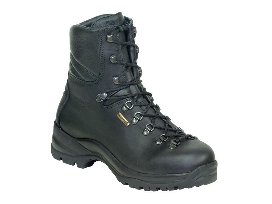 """Kenetrek Hard Tactical 8"""" Waterproof Tactical Boots Leather Black Men's"""