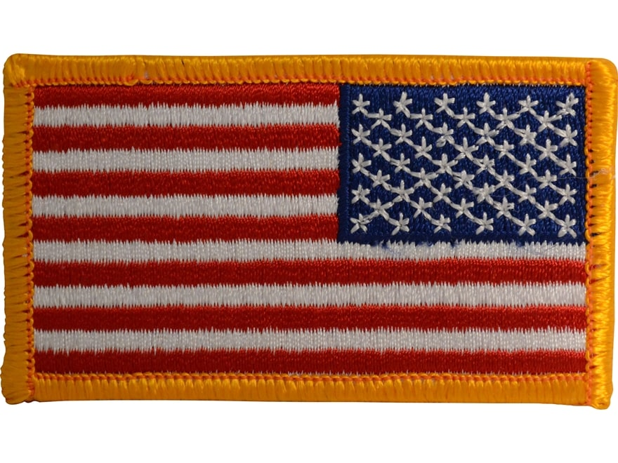 """Military Surplus Reverse US Flag Patch Red, White and Blue 2"""" X 3"""""""