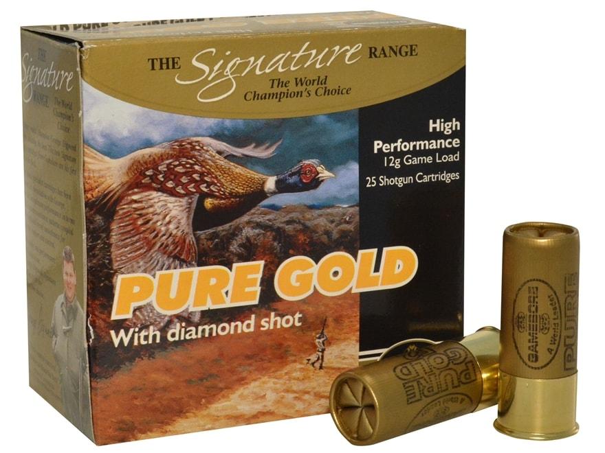 "Kent Cartridge Gamebore Pure Gold Diamond Shot Ammunition 12 Gauge 2-1/2"" 1 oz #7 Shot"