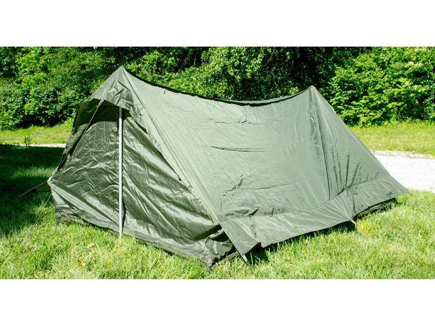 Military Surplus NATO 2 Man Tent with Ground Cover Olive Drab  sc 1 st  MidwayUSA & Military Surplus NATO 2 Man Tent Ground Cover Olive Drab