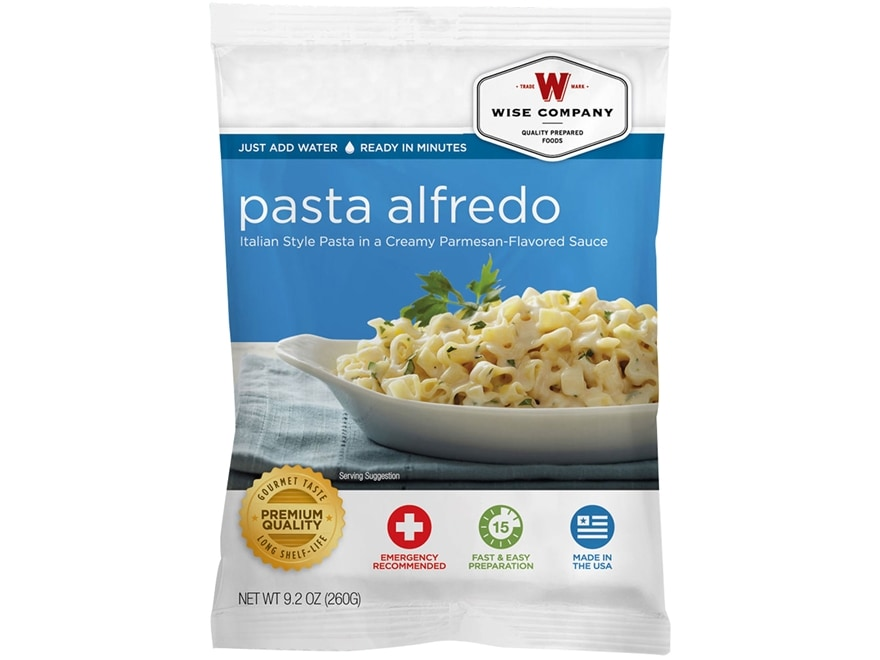 Wise Company Long Term 25 Year 4 Serving Pasta Alfredo Freeze Dried Food