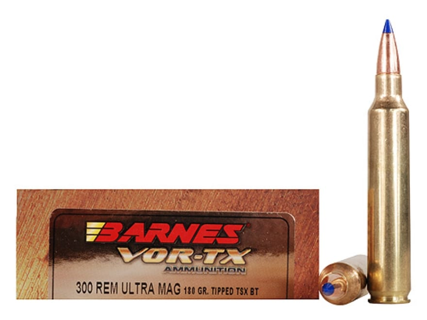 Barnes VOR-TX Ammunition 300 Remington Ultra Magnum 180 Grain TTSX Polymer Tipped Spitz...
