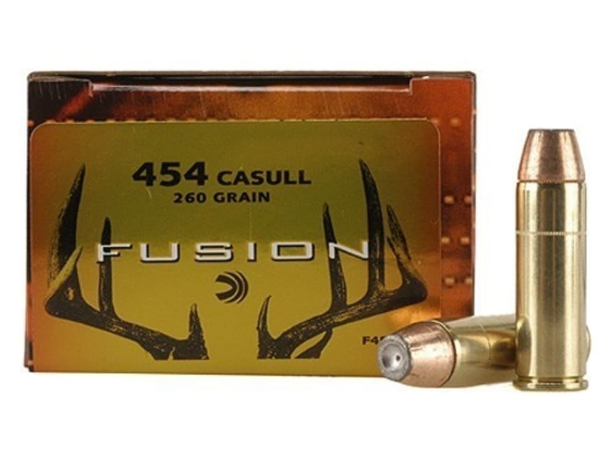 Federal Fusion Ammunition 454 Casull 260 Grain Jacketed Hollow Point Box of 20