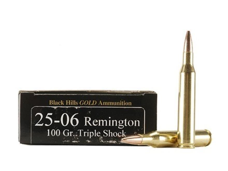 Black Hills Gold Ammunition 25-06 Remington 100 Grain Barnes TSX Hollow Point Boat Tail...