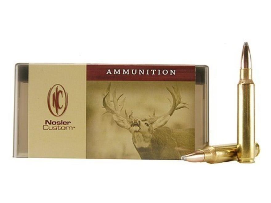 Nosler Custom Ammunition 338 Remington Ultra Magnum 250 Grain Partition Spitzer Box of 20