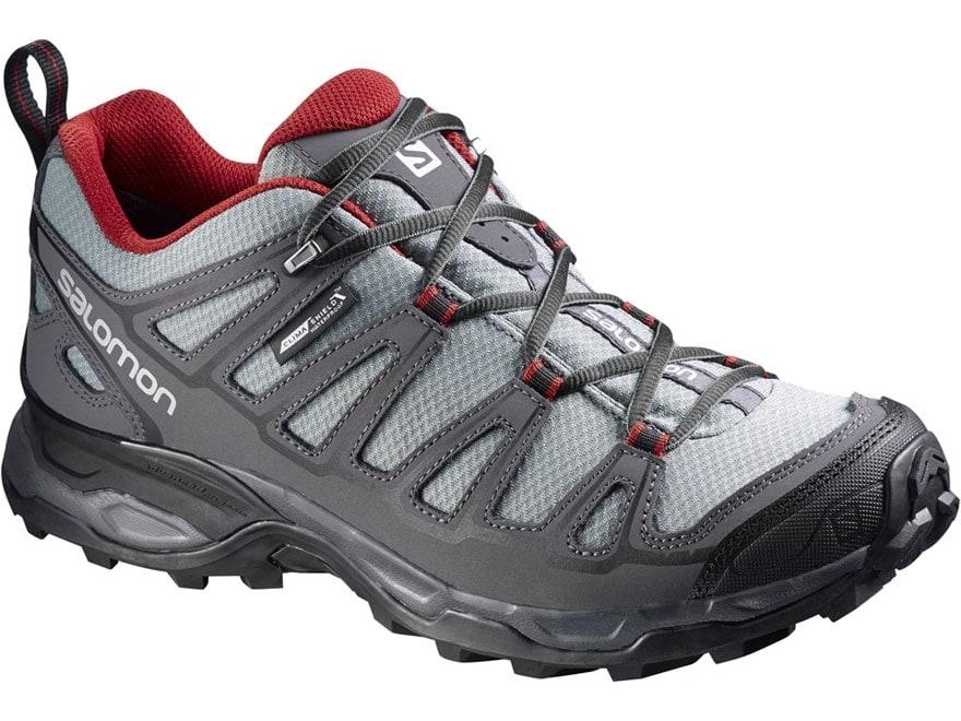 "Salomon X Ultra Prime CS 4"" Waterproof Hiking Shoes Synthetic Pearl Gray/Dark Cloud/Fle..."