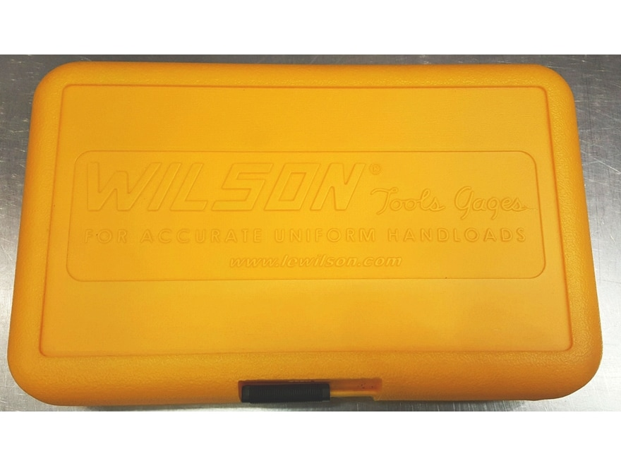 L.E. Wilson Die Kit Storage Box Plastic Yellow