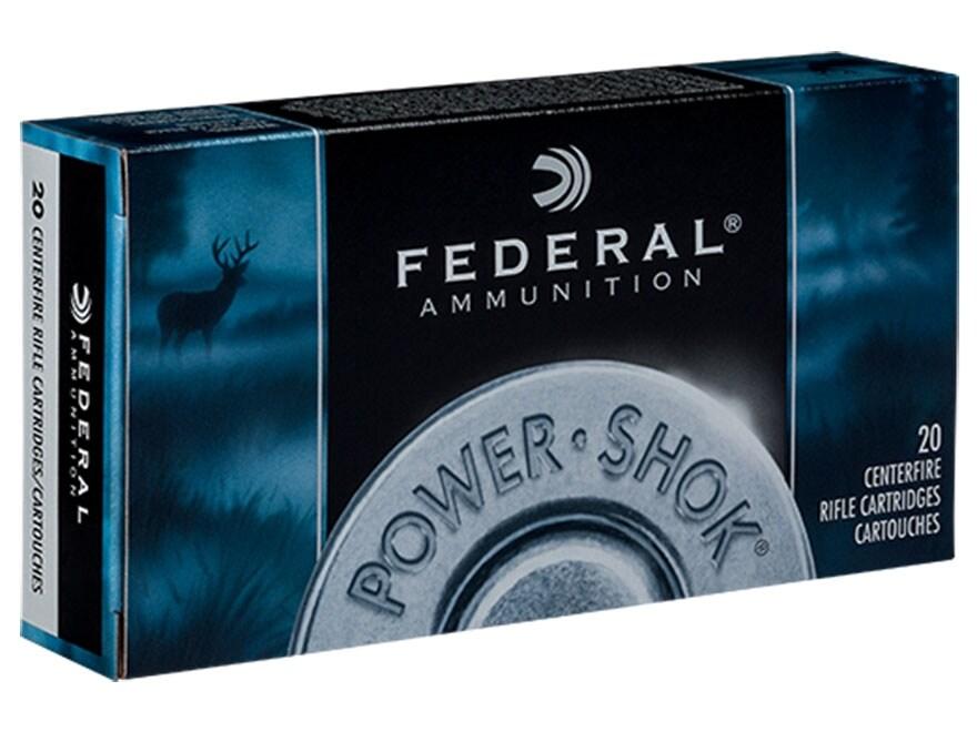 Federal Power-Shok Ammunition 300 Winchester Magnum 150 Grain Jacketed Soft Point Box o...