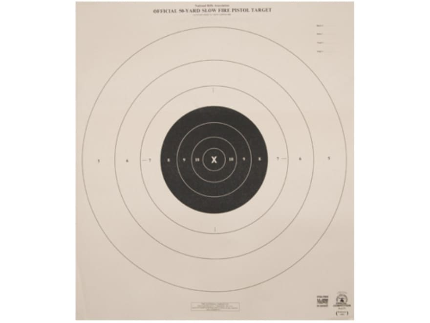 NRA Official Pistol Targets B-6 50 Yard Slow Fire - MPN: B ...